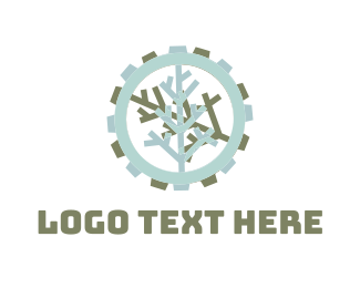 Blueprint - Tree Gear logo design