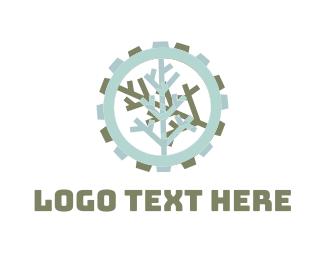 Gear - Tree Gear logo design
