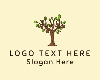 Hand Drawn - Coffee Tree logo design