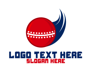 Cricket - Fast Cricket Ball logo design