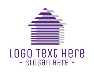 Estate Agency - House Lines logo design