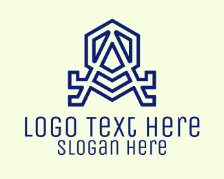 Unique - Violet Hexagon Letter A logo design