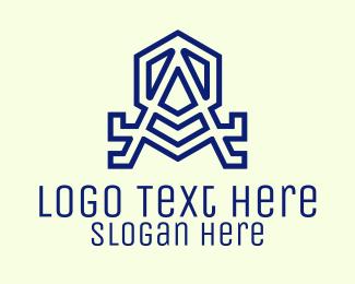 Letter A - Violet Hexagon Letter A logo design