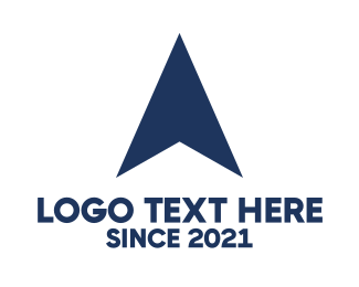 Pointer - Blue Airplane logo design