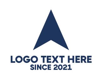 Pointer - Blue Airplane logo design