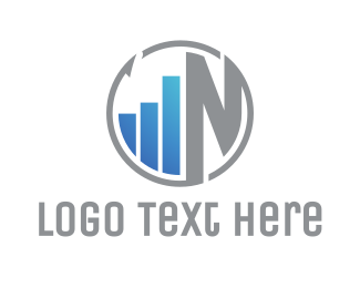 Wealth Advisor - Round Statistics N logo design