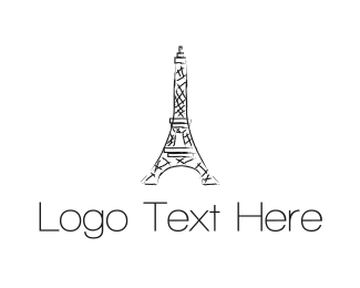 French - Eiffel Tower logo design