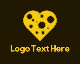 Cheddar - Cheese Heart logo design