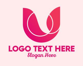 Letter U - Pink Brand Letter U logo design
