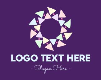 Media Agency - Fancy Festive Confetti logo design