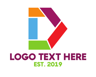 Shape - Artistic D Shape logo design