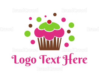 Bakeshop - Colorful Cupcake logo design