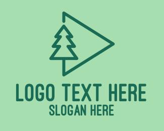 Conifer - Forest Media  logo design