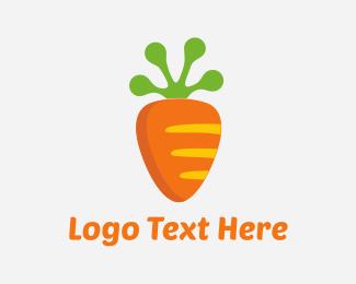 Vegetable - Carrot Frog logo design