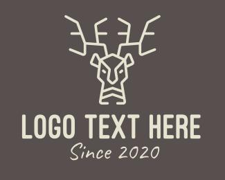 Chital - Wild Reindeer logo design