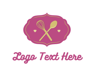 Cupcake - Whisk & Spoon logo design