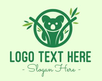 Forest Animal - Green Forest Koala logo design