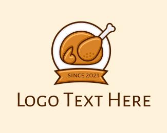 Marketplace - Roasted Chicken Cartoon logo design