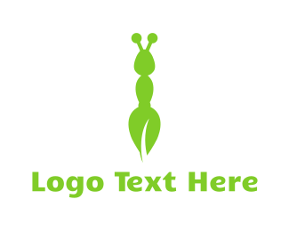 Green Bug - Green Eco Ant logo design