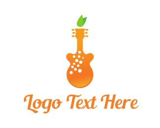 Instrument - Orange Juice Music logo design