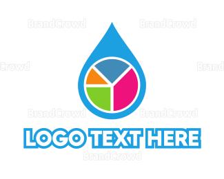 Petroleum - Water Statistics logo design