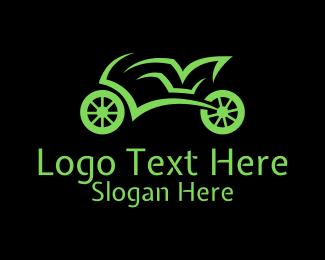 Safety Gear - Green Racing Motorbike logo design