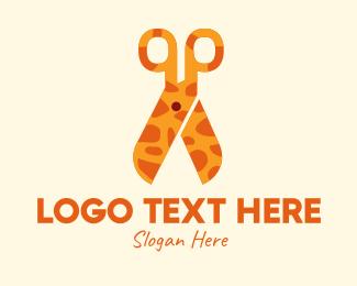 Art Class - Giraffe Scissors  logo design
