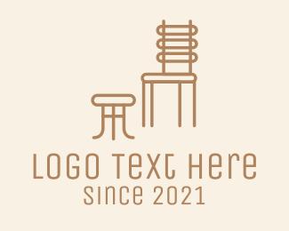 Wooden - Wooden Chair Footstool logo design