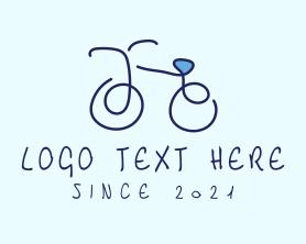 Handmade - Blue Bicycle Bike logo design