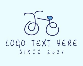 Bike - Blue Bicycle Bike logo design