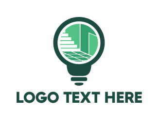 Illumination - Interior Bulb logo design