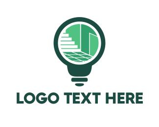 Interior Design - Interior Bulb logo design