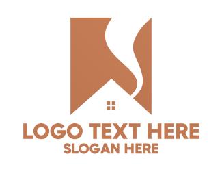 Home Depot - Minimalist House Roof logo design