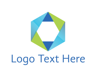 Hexagon - Hexagonal Star logo design