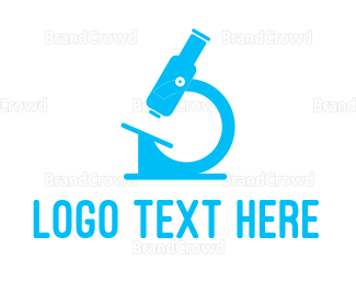 Biology - Blue Microscope logo design