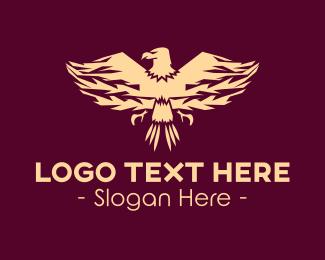 Peregrin - Elegant Eagle Emblem logo design