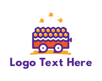 Trolley - Honey Cart logo design