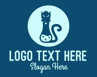 Chemist - Feline Lab logo design
