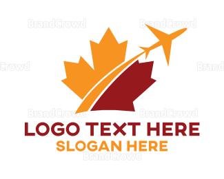 Air Travel - Canada Travel logo design
