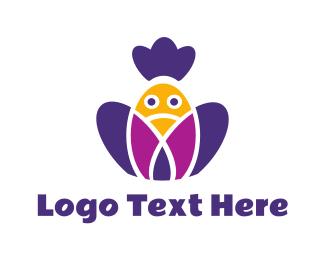 Birdie - Purple Birdie logo design