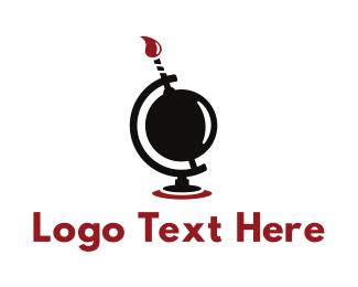 Global - Global Boom logo design