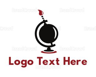 Explode - Global Boom logo design