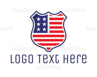 American Flag - American Badge logo design