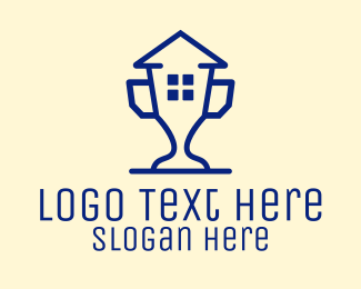 Best - Best House Trophy logo design