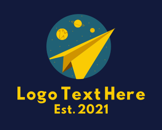 Paper - Paper Plane Galaxy logo design
