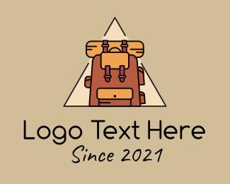 Motel - Backpack Triangle Badge logo design