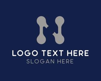 Gymnasium - Industrial Letter N logo design