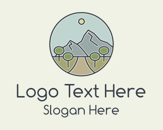 Mountain Climbing - Mountain Hill Pathway logo design