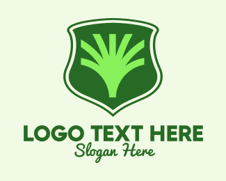 Agricultural - Tree Agriculture Shield logo design