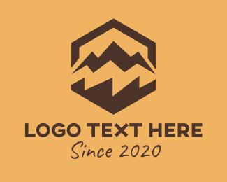 Mountain Top - Mountain Hexagon logo design